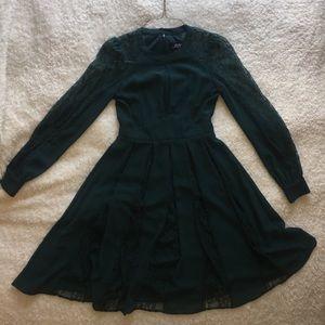 LuLu's mini formal green/blue dress.